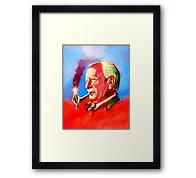 J. R. R. Tolkien Portrait with Orodruin Pipe Framed Print