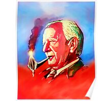 J. R. R. Tolkien Portrait with Orodruin Pipe Poster