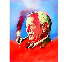 J. R. R. Tolkien Portrait with Orodruin Pipe Photographic Print