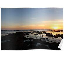 Sunset La Jolla Rocks Poster