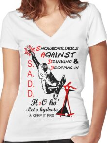 S.A.D.D. Women's Fitted V-Neck T-Shirt