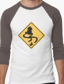 Slippery Road - Mario Kart Men's Baseball ¾ T-Shirt