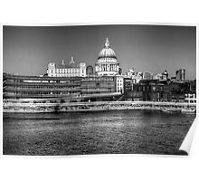 Views To St Pauls London Poster