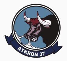 VFA-37 (VA-37) Raging Bulls Patch Kids Tee