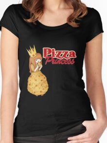 Pizza Princess - Adventure Time Style  Women's Fitted Scoop T-Shirt