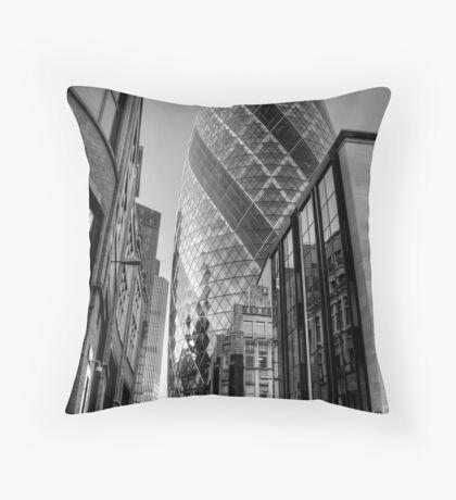 London Gherkin, London Throw Pillow