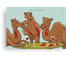 Camel Wine Tasting Canvas Print
