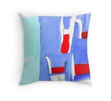 room with furniture Throw Pillow
