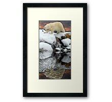 Arctic sunset Framed Print