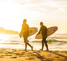 Morning Surfers by manuelc
