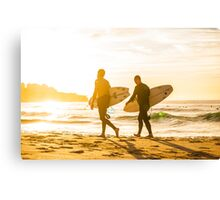 Morning Surfers Canvas Print