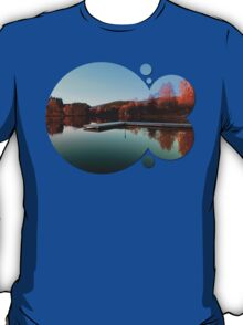 Romantic evening at the lake III | waterscape photography T-Shirt