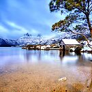Dove Lake in Winter by John Dekker