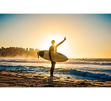 The surfer's way Photographic Print