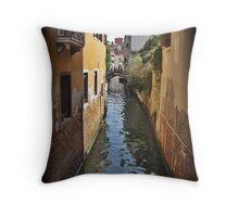 Venice Canal, Italy Throw Pillow