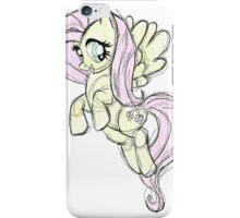 Fluttershy stencil art iPhone Case/Skin