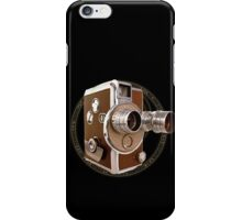 Old Style Movie Camera iPhone Case/Skin