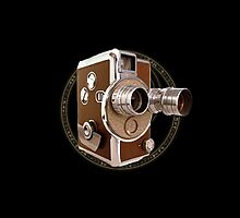 Old Style Movie Camera by Sally McLean