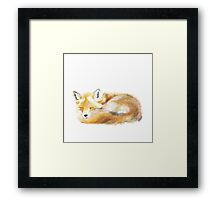 That Sleepy Fox Framed Print