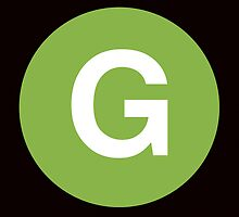 G Train Placard by axemangraphics