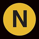 N Train Placard by axemangraphics