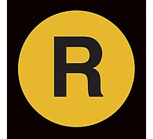 R Train Placard Photographic Print