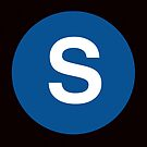 S Train Placard by axemangraphics