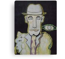The man in the Bowler Hat Canvas Print