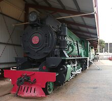 Broken Hill Sulphide St StnTrain Museum, Locomotive by Heather Dart