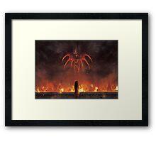 Alexandria Burning (25 left!) Framed Print