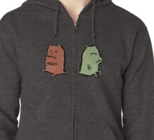 two dragons Zipped Hoodie