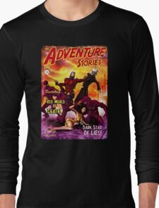 Pulp Adventure Stories: The Red World of Death! Long Sleeve T-Shirt