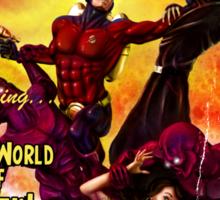 Pulp Adventure Stories: The Red World of Death! Sticker