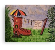 'Every Old Sock Meets An Old Shoe' Canvas Print