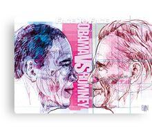 Obama vs Romney Canvas Print