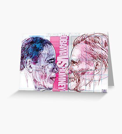 Obama vs Romney Greeting Card