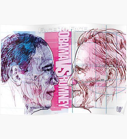 Obama vs Romney Poster
