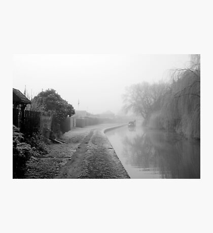 Foggy Canal At Shobnall Photographic Print