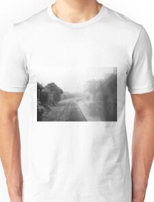 Foggy Canal At Shobnall Unisex T-Shirt