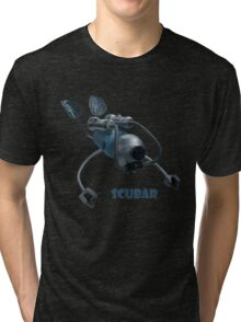 Scubar - Self Contained Underwater Breathing Apparatus Robot Tri-blend T-Shirt