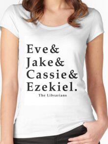 The Librarians: Eve&Jake&Cassie&Ezekiel Women's Fitted Scoop T-Shirt