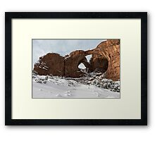 Frosted Double Arch Framed Print
