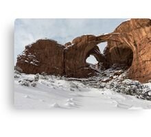 Frosted Double Arch Canvas Print