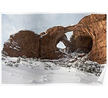 Frosted Double Arch Poster