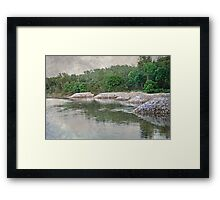 Racoon River in Iowa Framed Print