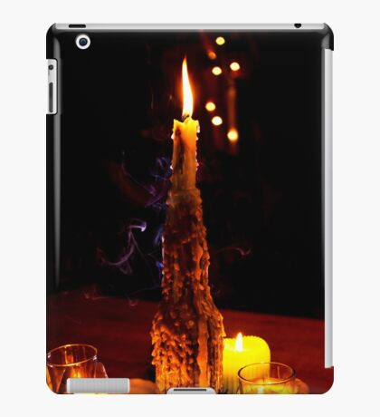 Dark candle light  iPad Case/Skin