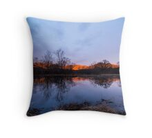 Winter Morning at Cove Lake Throw Pillow