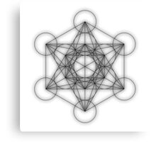 Metatron cube - black Canvas Print