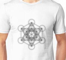 Metatron cube - black Unisex T-Shirt