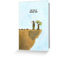 Go Green Cards, Save Trees Cartoon Earth Day Card Greeting Card